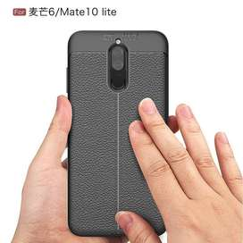 LEATHER AUTO FOCUS Huawei Nova 2i Mate 10 Lite soft case casing kulit