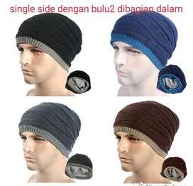 topi kupluk untuk winter  musim dingin unisex