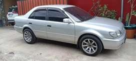 Jual mobil antik toyota soluna GLI silver th 2000 bukan bekas mantan