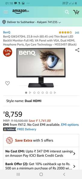 """1 month old 23?"""" Ben q monitor 1080p full hd"""