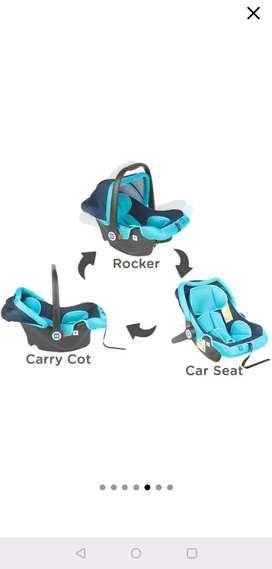 Mee Mee carry cot , rocker , car seat