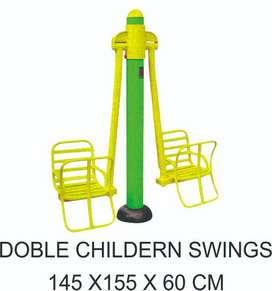 Double Children Swing Alat Fitnes Outdoor Murah Garansi 1 Tahun