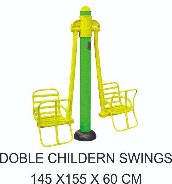 Double Children Swing Alat Fitnes Outdoor Murah Garansi 1 Tahun 0