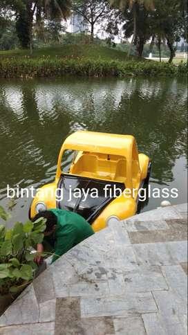 sepeda air fiberglass mobil kuning, mobilan goes sepeda air