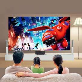 120inch LED HD WiFi Projector Watch TV Movie on Big Screen Mobile Cone