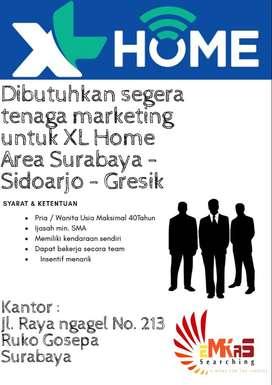 Dibutuhkan Sales Marketing XL Home Area Surabaya