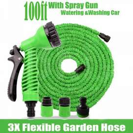 Multi-Function Expandable Magic Hose Pipe 100ft Water Spray Gun