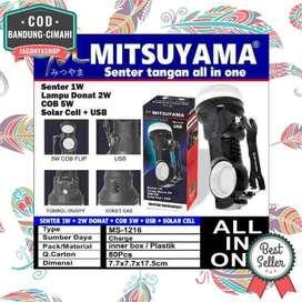 COD Senter Tangan 1W Solar Donat 2W COB 5W Surya Cell USB MS1216