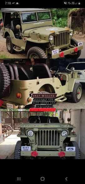 1957 model willys available for autoshows, functions, wedding order
