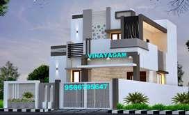 ELEGANT , BRAND NEW Villa for sale at VADAVALLI --Vinayagam --79 Lakhs