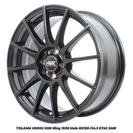 Velg Racing HSR R15 lobang 8x100-114,3 Brio Ayla Agya Sigra Xenia