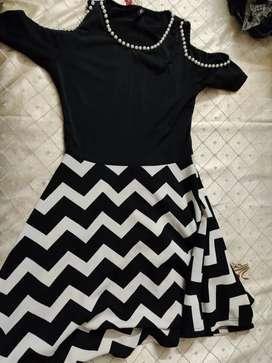 Black and White strip dress