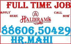 haldi ram Job Full Time Apply Helper Store keeper Supervisor call me y