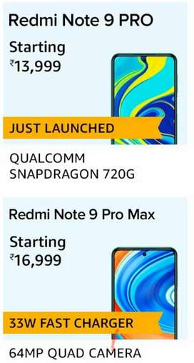 Redmi and Realme all phones available