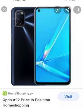 Oppo A92 8/128  urgent sale. Only call