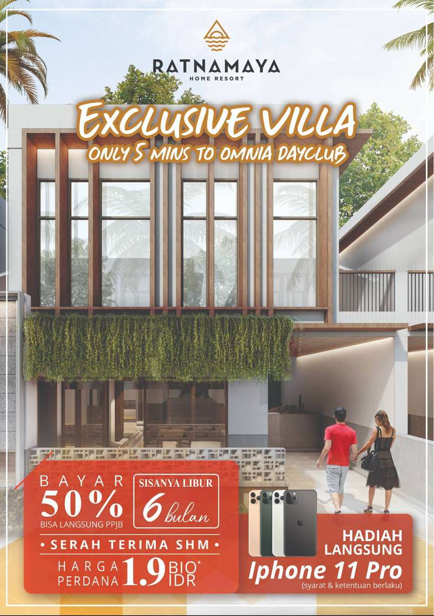 Villa OMNIA Bali Bayar 50% langsung PPJB 0