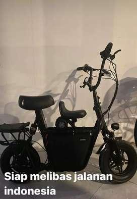 Sepeda listrik fiido q1s black upgrade controller 60 volts