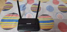 D Link Double Antenna Wireless Router With Modem