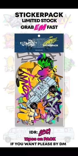 Graffiti sticker vinyl pack