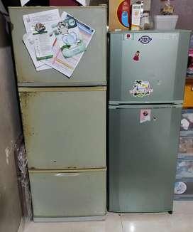 Kulkas 3 pintu & 2 pintu Sharp & LG borongan