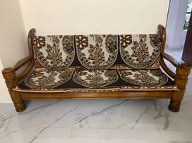 Teak wood(Saagwan) sofa set for sale