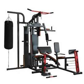 Alat Fitnes Angkat Beban Home Gym 4 sisi Leg Press Samsak Tinju