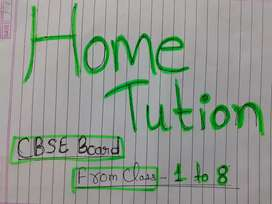 CBSE board from class 1 to 8