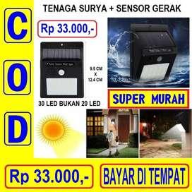 Lampu Tenaga Surya 30 Led Emergency Sensor Gerak Taman Matahari