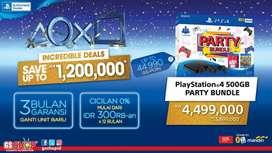 PS4 slim 500GB hits bundle party bisa cicilan Bunga 0% hanya d GS shop
