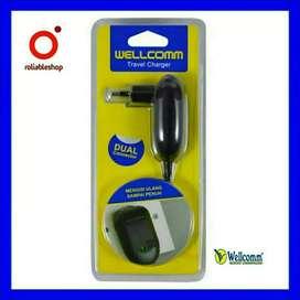 Wellcomm - Travel Charger Dual Port Micro Dan Nokia Kecil