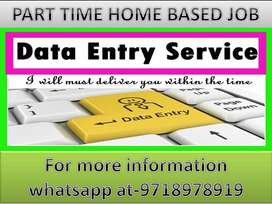 Simple Data entry Part time job home based job typing and ad posting