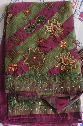 Saree with blouse