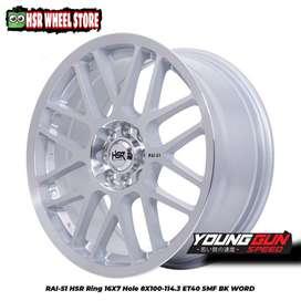 HSR Wheel RAIS1 ring 16 silver polish buat Brio Agya Sigra Vios jazz