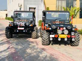 Open modified willys jeeps