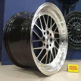 jual velg mobil racing HSR paddock ring18 pcd 4x100 4x114,3 murah