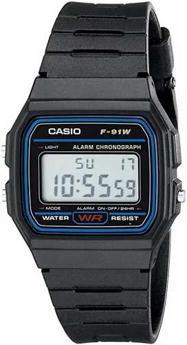 Jam Tangan pria unisex Casio F91W Original garansi 1 tahun termurah