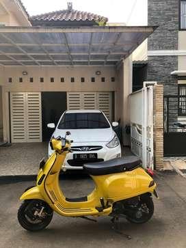 Vespa S 2017 kuning modif hedon brembo murah mulus like new