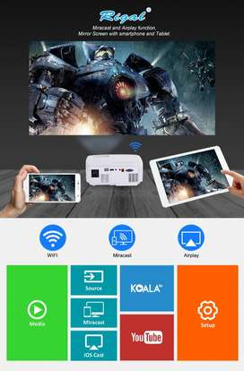 Best Offer- 100 Inch Wi-Fi Smart Projector Watch TV,IPL,MOVIES On Big