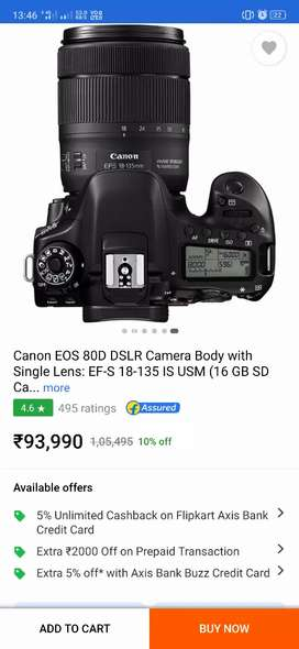 Camera 80d 2years old
