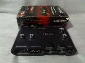 Line6 ux 2 soundcard recording untuk rekaman studio dan home recording