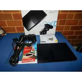 PS2 Slim Seri 7 + Flash Disk 32 GB Tinggal Main (PS2-CON-001)