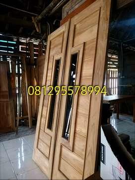 Kusen-pintu-jendela-lubang angin kayu jati paketi murah