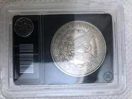 Antique American silver coin.