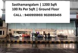 Sasthamangalam Ground Floor 1200 Sqft
