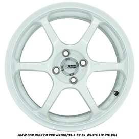 VELG RACING AMW SSR R16X7.0 4X100/114.3 ET35 AGYA AYLA CALYA SIGRA