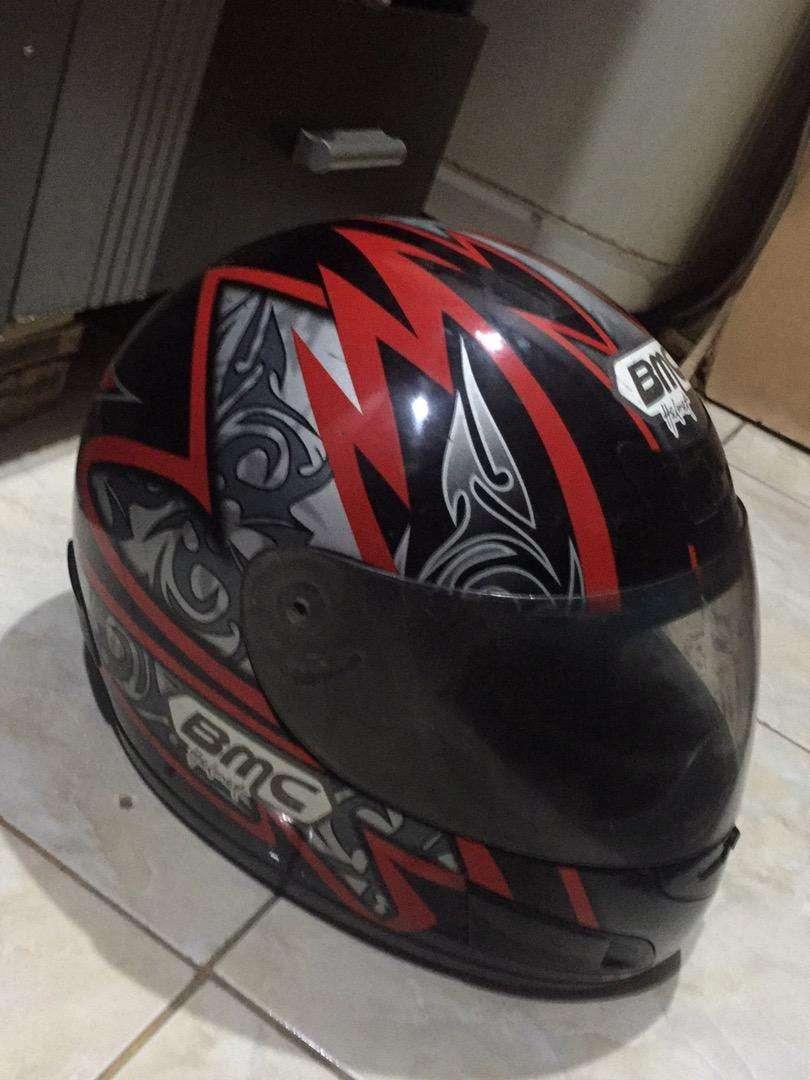 Helm fullface berSNI merk bmc asli ( size L) 0