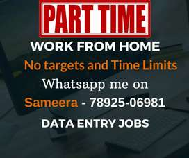 No targets & time limits   Data entry jobs   Earn daily 1000/-