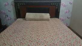 Complete Bedroom set with mattress ( only 1 year used ) sheesham wood