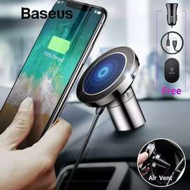 Baseus Universal AirVent Magnetic Phone Car Mount Holder + W/Less Ch