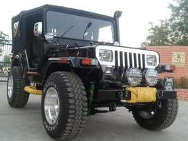 silver front jeep with power engine